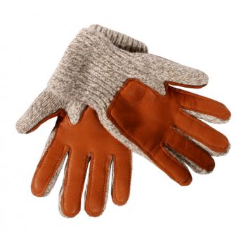 Ragg Wool Glove Deer Palm, Pile Lined