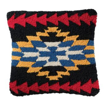 Midnight Eyes - Hooked Wool Pillow