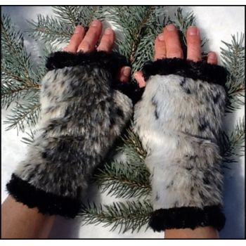 Faux Animal Fingerless Mittens
