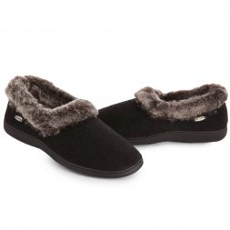 Acorn Slippers and Socks - Chinchilla Collar For Women