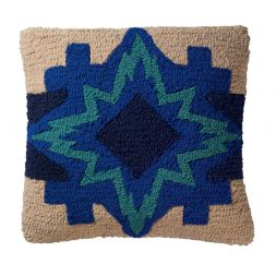 - North Star - Hooked Wool Pillow
