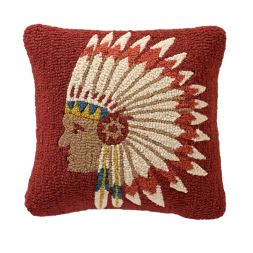 Pendleton Woolen Mills - Chief's Concho - Hooked Wool Pillow