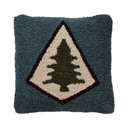 - Pine Lodge - Hooked Wool Pillow