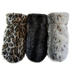 - Faux Animal Mittens