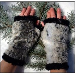 - Faux Animal Fingerless Mittens