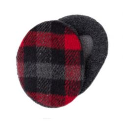 Sprigs Earbags - Plaid Black & Red Earbags