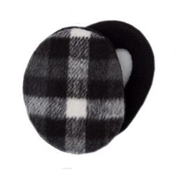 Sprigs Earbags - Plaid Black & White Earbags