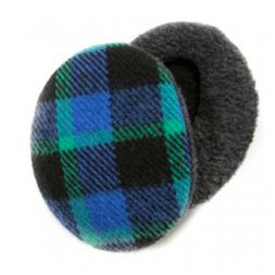 Sprigs Earbags - Plaid Blue & Green Earbags