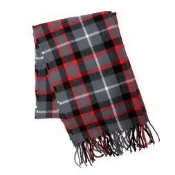 - Gray & Red Plaid Scarf