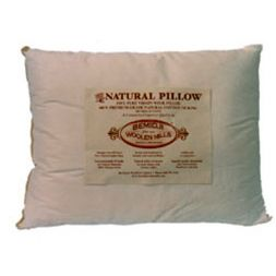 Bemidji Woolen Mills - Natural Wool Pillow w/ Cotton Ticking