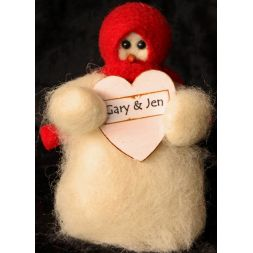 "Original Wooly Snowman - ""Sweet Hearts"" Wooly® Primitive Snowman"