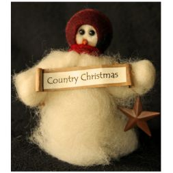 Original Wooly Snowman - &quot;Country Christmas&quot; Wooly<sup>®</sup> Primitive Snowman