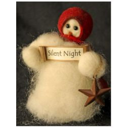 "Original Wooly Snowman - ""Silent Night"" Wooly<sup>®</sup> Primitive Snowman"