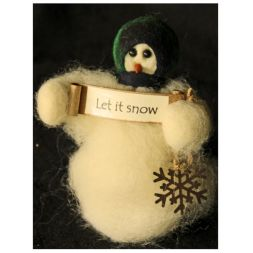 Original Wooly Snowman - &quot;Let it Snow&quot; Wooly<sup>&reg;</sup> Primitive Snowman