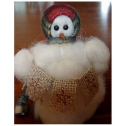 "Original Wooly Snowman - ""Stars"" Wooly<sup>®</sup> Primitive Snowman"