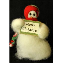 "Original Wooly Snowman - ""Merry Christmas"" Wooly<sup>®</sup> Primitive Snowman"