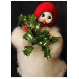 Original Wooly Snowman - &quot;Deck the Halls&quot; Wooly<sup>®</sup> Primitive Snowman
