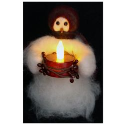 Original Wooly Snowman - &quot;Candle Light&quot; Wooly<sup>&reg;</sup> Primitive Snowman