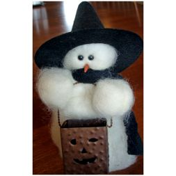 "Original Wooly Snowman - ""Tricks Or"" Wooly<sup>®</sup> Primitive Snowman"
