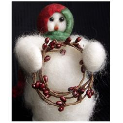 Original Wooly Snowman - &quot;Berry Beauty&quot; Wooly<sup>&reg;</sup> Primitive Snowman