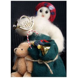 Original Wooly Snowman - &quot; Packing Up&quot; Wooly<sup>&reg;</sup> Primitive Snowman