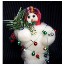 - &quot;All Tangled Up&quot; Wooly<sup>&reg;</sup> Primitive Snowman