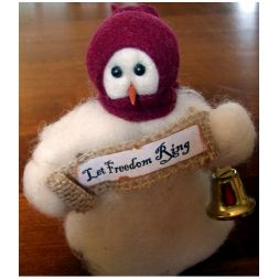 "Original Wooly Snowman - ""Let Freedom Ring"" Wooly<sup>®</sup> Primitive Snowman"