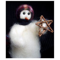 "Original Wooly Snowman - ""Lone Star"" Wooly<sup>®</sup> Primitive Snowman"