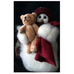"Original Wooly Snowman - ""Sleepy Time"" Wooly<sup>®</sup> Primitive Snowman"