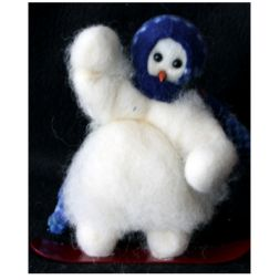 "Original Wooly Snowman - ""Snowboard Tricks"" Wooly<sup>®</sup> Primitive Snowman"