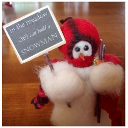 Original Wooly Snowman - &quot;In the Meadow&quot; Wooly<sup>®</sup> Primitive Snowman