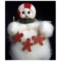 Original Wooly Snowman - &quot;Decorating Time&quot; Wooly<sup>&reg;</sup> Primitive Snowman