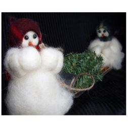 Original Wooly Snowman - &quot;Are You Helping?&quot; Wooly<sup>&reg;</sup> Primitive Snowman