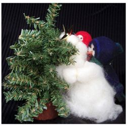 Original Wooly Snowman - &quot;Mini Higher Daddy&quot; Wooly<sup>&reg;</sup> Primitive Snowman