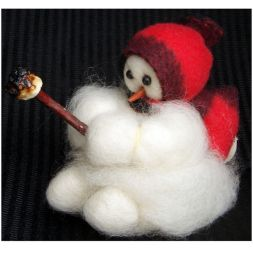 Original Wooly Snowman - &quot;Baby Roughing It&quot; Wooly<sup>&reg;</sup> Primitive Snowman