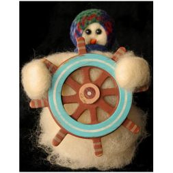 "Original Wooly Snowman - ""Sail Away"" Wooly<sup>®</sup> Primitive Snowman"
